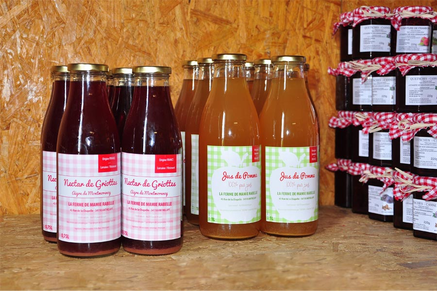 nectars griottes jus pommes